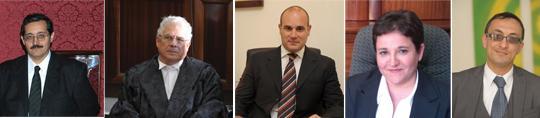 Magistrate Anthony Ellul, Magistrate Silvio Meli, Lawyer Neville Camilleri, Lawyer Josette Demicoli and Lawyer Francesco Depasquale.