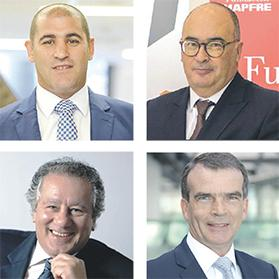 The business breakfast will be led and moderated by chartered director Christian Vassallo (clockwise, from top left) and a panel consisting of Mapfre Middlesea chairman Martin Galea, EY Partner Geraint Davies and Guillaumier business dynamics chairman Anthony Guillaumier.