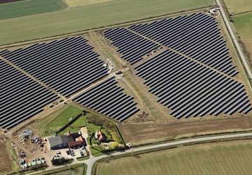A solar farm under construction in the UK.