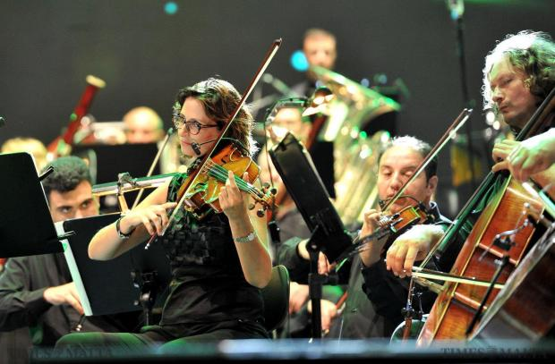 Part of the Malta Philharmonic Orchestra at the Joseph Calleja Concert on August 3. Photo: Chris Sant Fournier