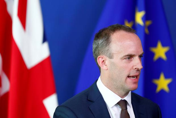 Britain's Secretary of State for Exiting the European Union, Dominic Raab.