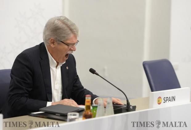 Spain's Minister of Foreign Affairs Alfonso Dastis before the start of the first session of the Informal Meeting of Foreign Affairs Ministers in Valletta, Malta on April 28. Photo: Matthew Mirabelli