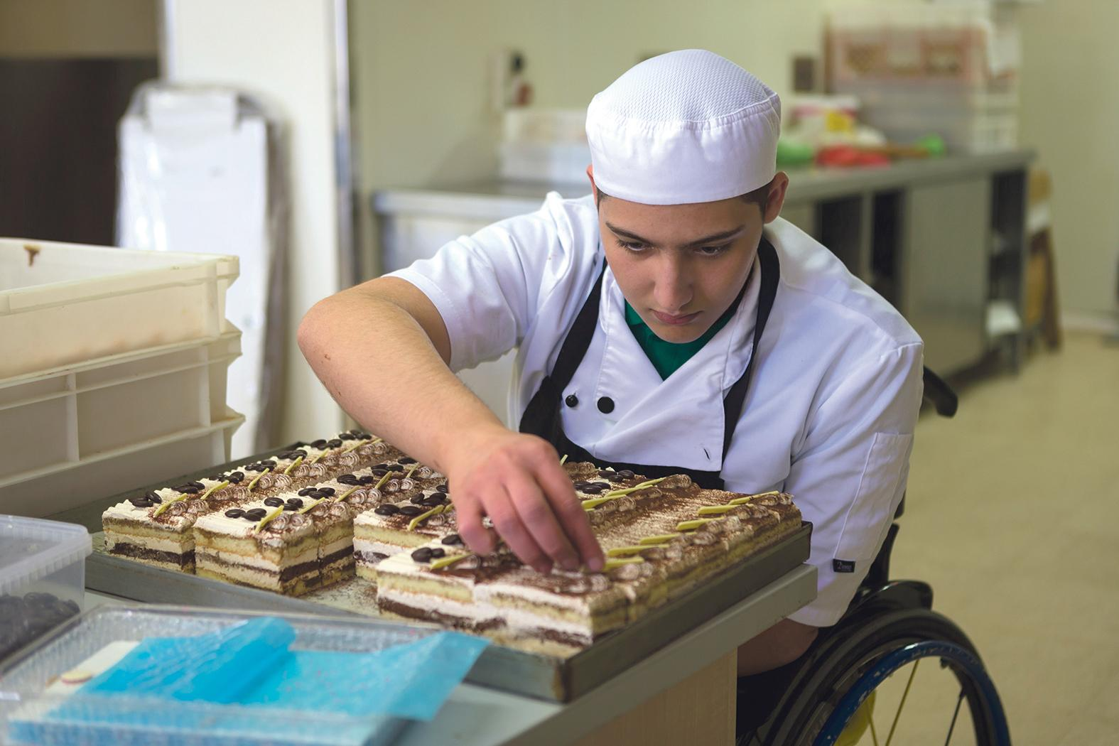 Rocco Gauci is currently studying at ITS to become a chef.