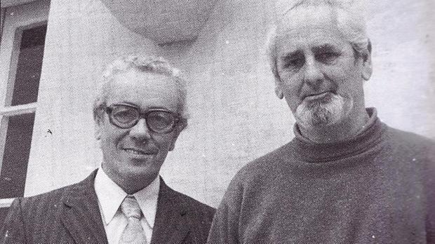 Charles Arrigo (left)with Nicholas Monsarrat.