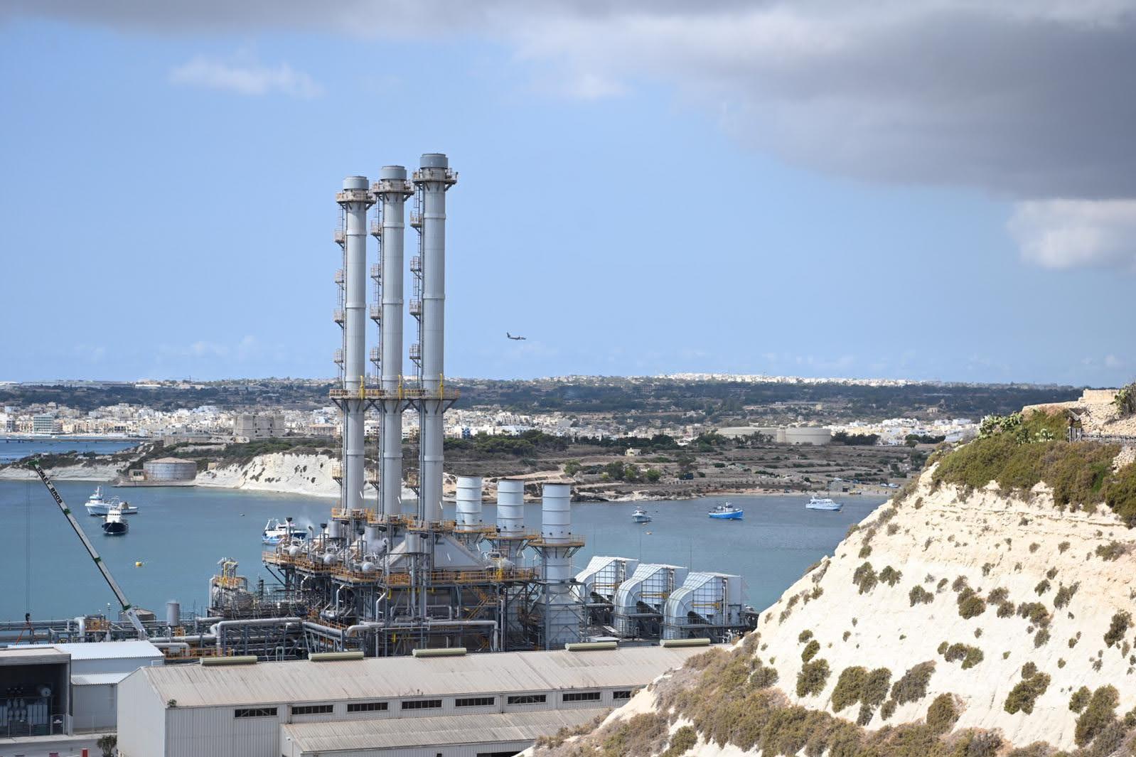 The Electrogas power station in Delimara. Photo: Mark Zammit Cordina