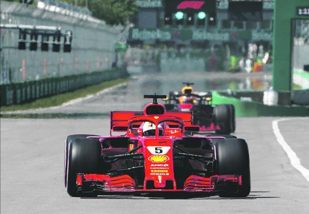 Sebastian Vettel, of Ferrari, took pole at the Canadian Grand Prix.