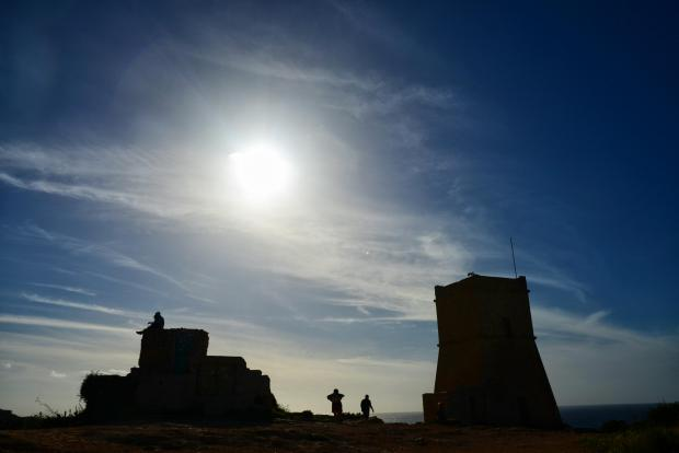 Għajn Tuffieħa tower on March 13. Photo: Jonathan Borg