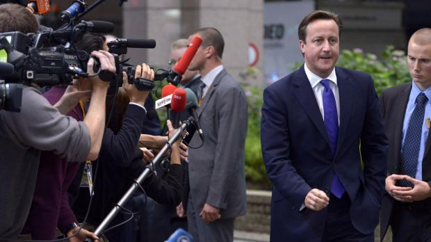 David Cameron arrives for the EU summit.