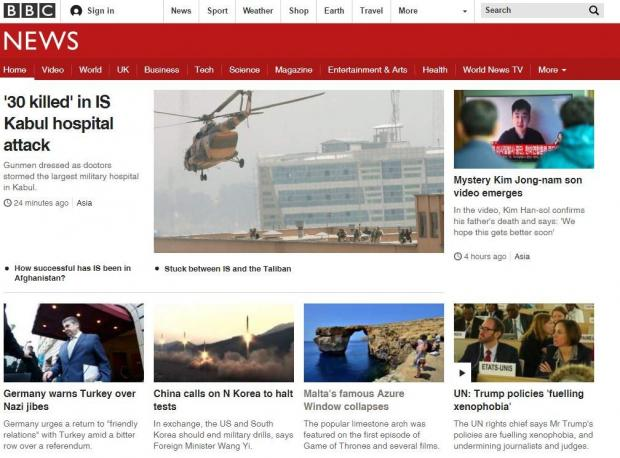 The Azure Window made the BBC front page.