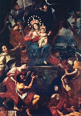 Alessio Erardi's titular painting of Our Lady of Graces, Żabbar, 1616. Photo: R. Gialanzé