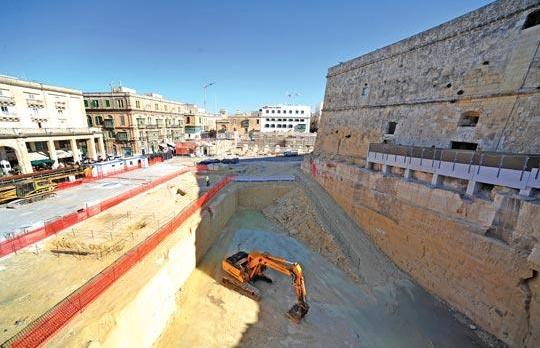 Excavations are well ahead for the basement level of the new Parliament building which is currently in its detailing stage.
