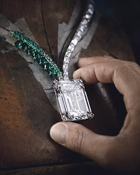 De Grisogono's Creation 1, an emerald and diamond necklace