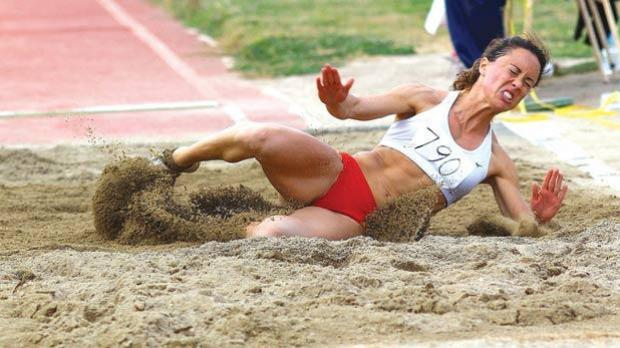 Rebecca Camilleri was second in the long jump event during last weekend's competition in Tbilisi. Photos: Wally Galea