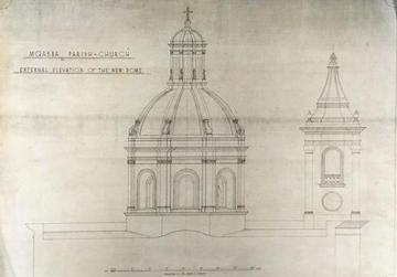 An illustration of the new dome, which was designed by Andrea Micallef.