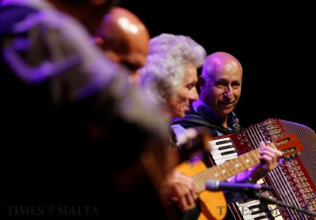 Maltese folk musicians perform at the Ghanafest folk music festival, a showcase of Maltese folksong and international music folk fusion music, at the Argotti Gardens in Floriana on June 10. Photo: Darrin Zammit Lupi