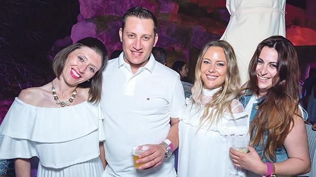 The Gozo team: Sonia Debrincat, David Sultana, Amy Stuart Hill and Estelle Grima.