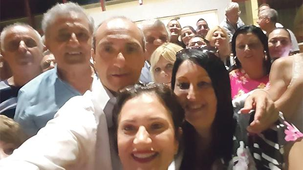 Chris Fearne taking a selfie with Carmen Ciantar (front) and her assistant at the Foundation for Medical Services soon after winning the Labour deputy leadership race.