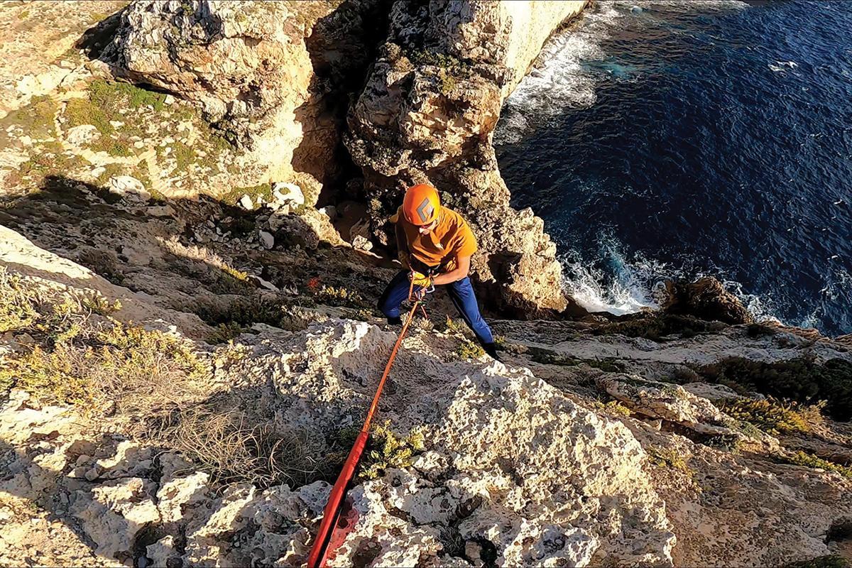 Abseiling at Miġra l-Ferħa