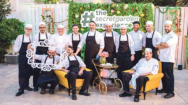 Corinthia Caterers chefs (standing, from left): Amadeo Russo, Fabian Baldacchino, Gordon Amato, Shaun Cefai, Gibert Agius, Reuben Miceli, Robert Cassar, Bu el Gadi, Ivan Borg and Neville Abela with (seated, from left) Silvio Grima, Neil Hili and Jonathan Farrugia.