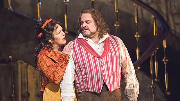Adrianne Pieczonka and Joseph Calleja in Tosca at the Royal Opera House, London. Photo: Tristram Kenton