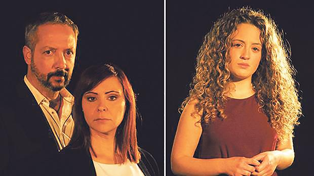Chris Spiteri, Marceline Galea (centre) and Geordie Schembri are starring in Missierna Li X'Aktarx Inti Fis-Smewwiet.
