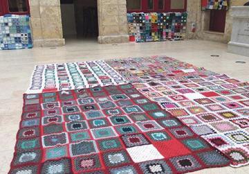 Biggest crochet blanket for charity