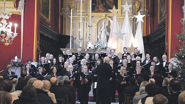 St Paul's Choral Society during last year's Christmas Carol Concert at St Mark's church in Rabat.