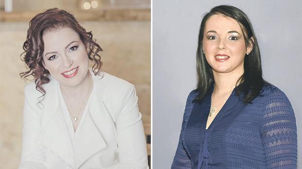 Elizabeth Cortis. Right: Janice Baldacchino