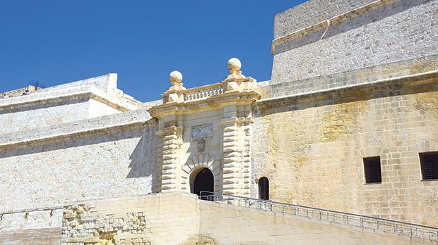 The main gate of Fort St Angelo