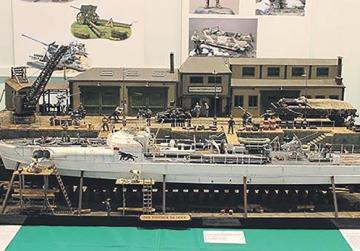 Scale model exhibition of ships and warplanes