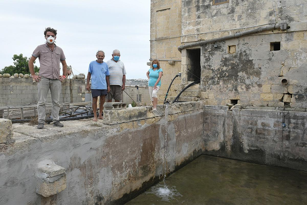 The 500-year-old reservoir which the farmers depend on to survive.