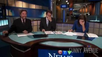 Watch: Newscaster in giggling fits as she reads story of man who lived as a goat