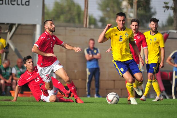 Sweden were in a class of their own against Malta. Photo: Stephen Gatt