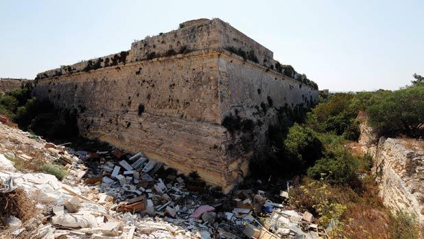 Fort San Salvatore was built in 1724. Photo: Darrin Zammit Lupi