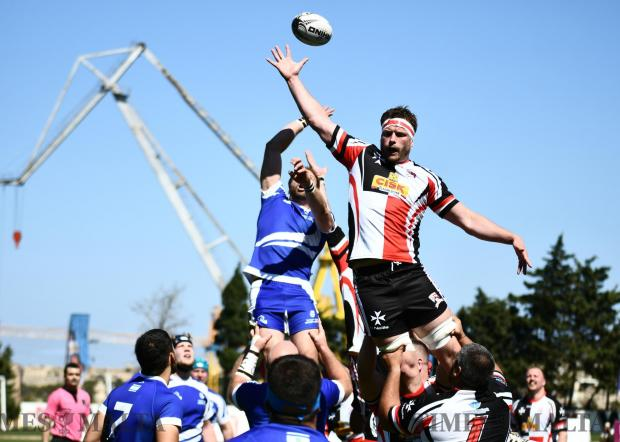 Malta's national rugby team beat Israel to go top of their group at the Hibernians ground in Paola on April 22 Photo: Jonathan Borg