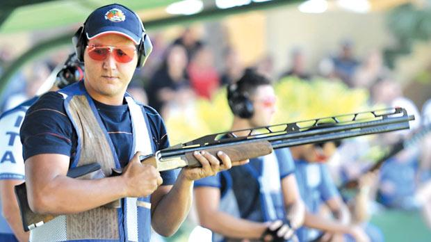 Shooting for success... William Chetcuti is regarded as a genuine contender for a medal in double trap at the London Games.