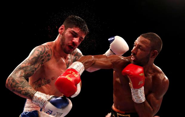 Kell Brook (right) in action against Michael Zerafa.