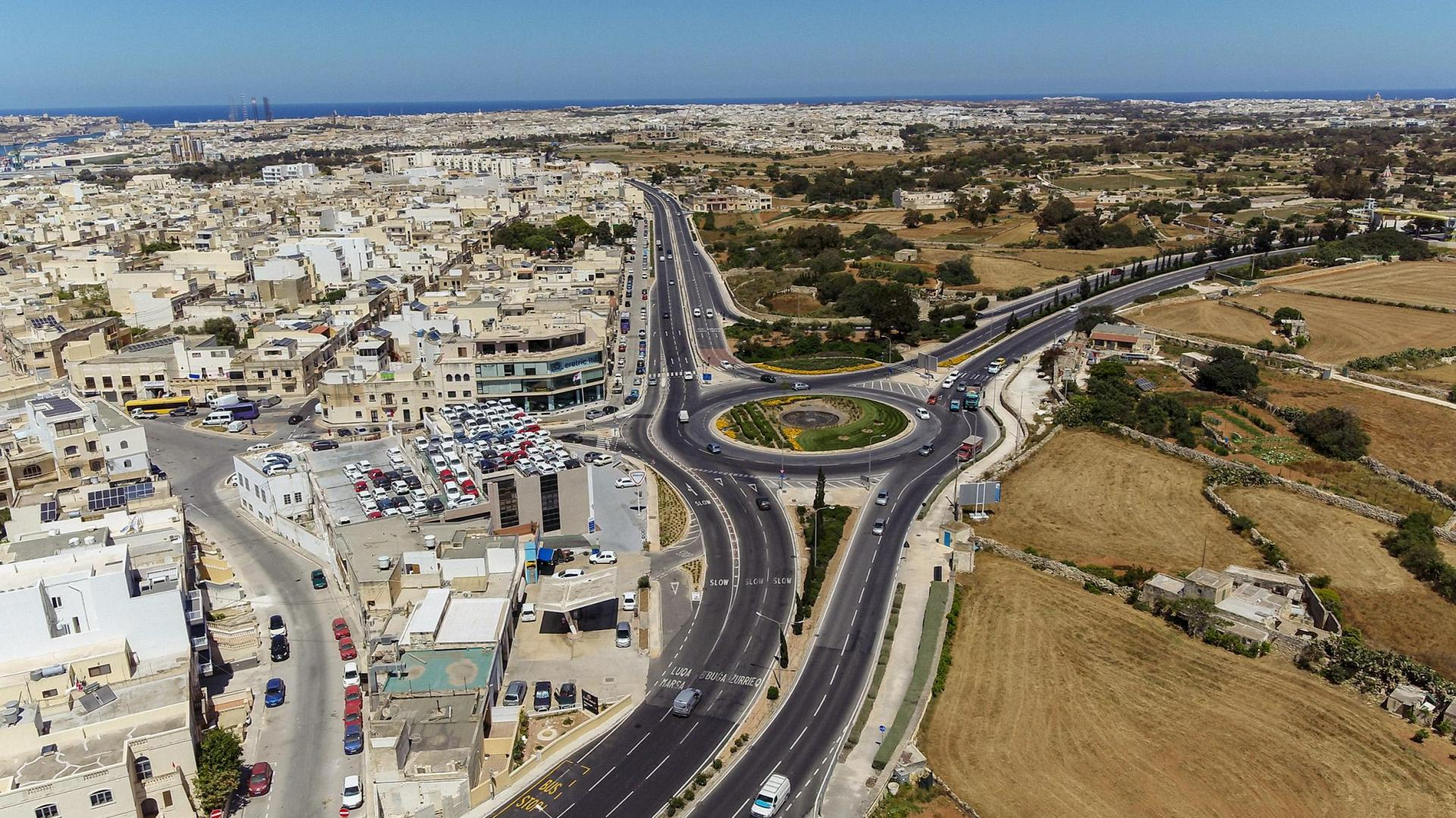 The Luqa roundabout in its current form.