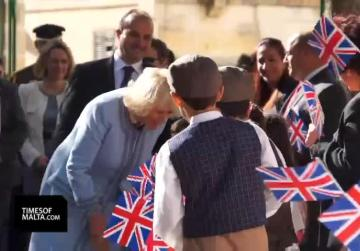 Duchess of Cornwall spends time with children in Zejtun
