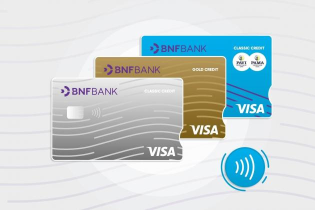 BNF credit cards go contactless