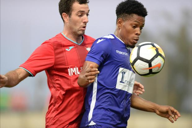 Degran Jackson of St Andrews attempts to protect the ball from Balzan during their BOV Premier League match at Centenary Stadium in Ta' Qali on August 25. Photo: Matthew Mirabelli