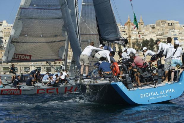 Sailing boats start the Rolex Middle Sea Race in Valletta's Grand Harbour on October 22. Photo: Darrin Zammit Lupi
