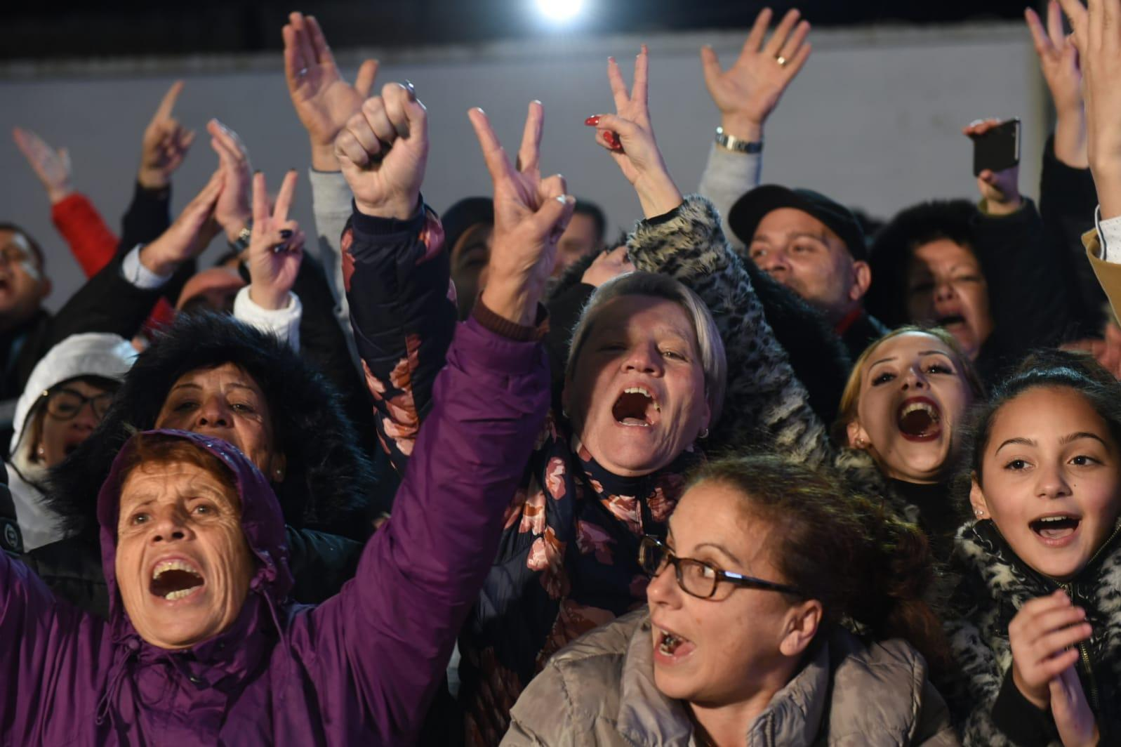 Abela supporters cry out in delight. Photo: Chris Sant Fournier