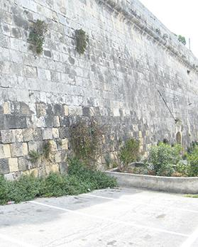 The bastion behind Lintorn Barracks, Floriana, where a 36-year-old unmarried woman from Valletta abandoned her baby. On February 28, 1964, she was found guilty of concealment of the child's birth and sentenced to four months' imprisonment.