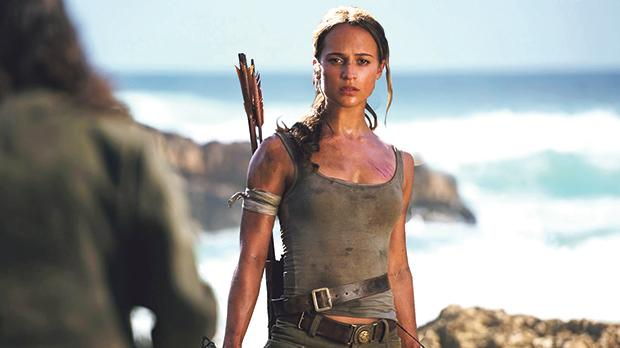 Alicia Vikander becomes an action heroine in Tomb Raider.