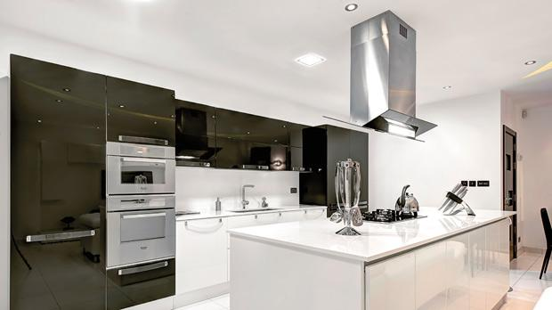 Lighting can be changed without modifying the whole kitchen.