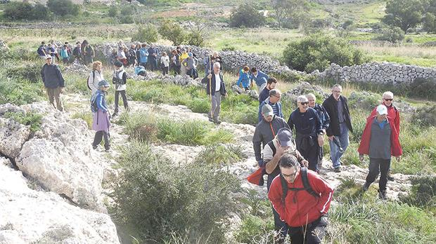 Ramblers in close proximity to nature. Photos: Vincent Fenech