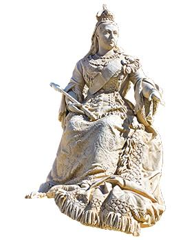 The statue of Queen Victoria erected in 1891 in Republic Square, Valletta. Some Gozitans suggest that the statue, the work of Sicilian sculptor Giuseppe Valenti, should be transferred to Victoria or that a new statue commemorating her should be erected in her Gozitan namesake.