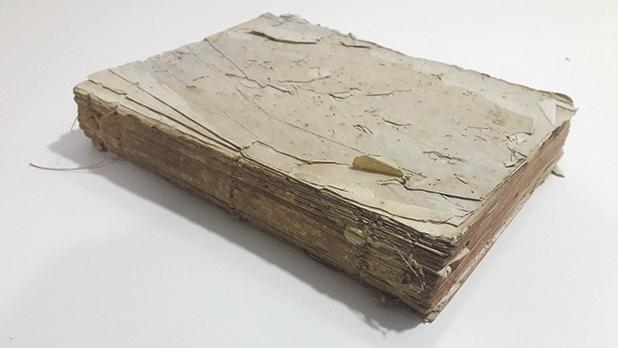 The manuscript containing the diary entries on the French Blockade.