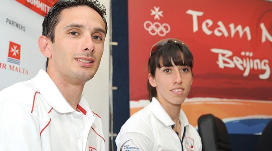 Nicolai Portelli and Charlene Attard - in Malta's contingent for Beijing.